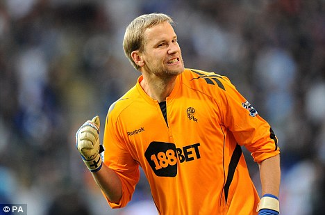 Hammer time: Jussi Jaaskelainen is wanted by West Ham