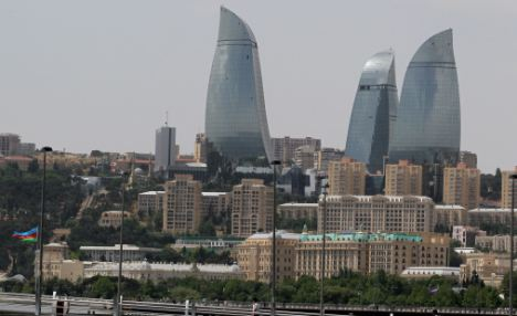 Danger zone: Azerbaijan has recently reported being the target of terrorist activities planned by groups with ties to al-Qaeda and Iran, and this is the most extravagant alleged plot revealed to date. Pictured, Baku