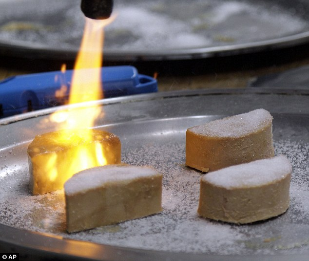 Liver alone: Foie Gras is torched and made into a brulee at Sent Sovi Friday; the culinary treat will be banned on July 1