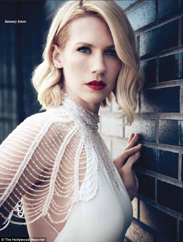 Mad women: January Jones ran screaming from the room after seeing herself as Fat Betty on screen