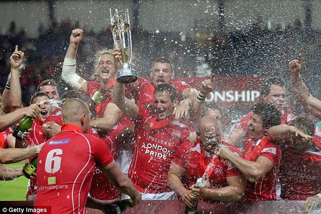 We are the champions: London Welsh get the party started at the Kassam Stadium