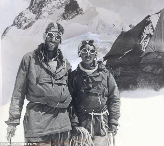Splendid isolation: Edmund Hilary and Sherpa Tenzing on Everest in May 1953