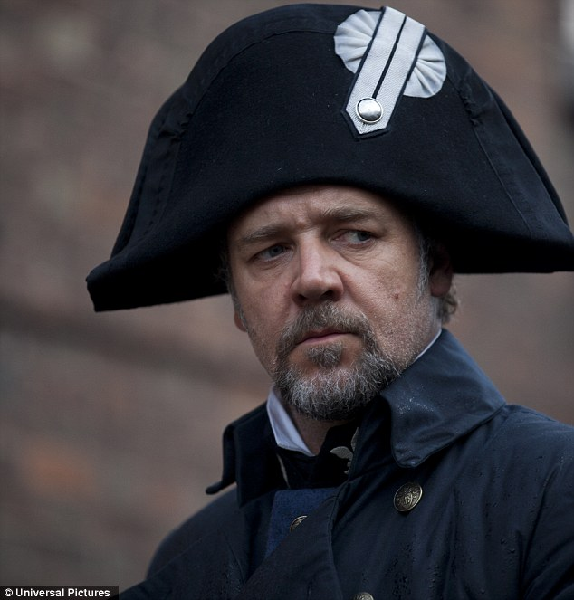 On a mission: Russell Crowe as ruthless policeman Javert