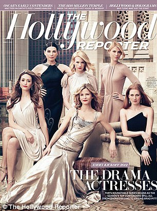 Drama lesson: Six leading actresses featured on the cover the Emmy Kick Off issue alongside January Jones