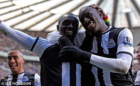 Team-mates: Cisse's arrival saw Ba operate in a wide position for Newcastle