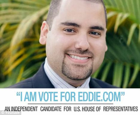 Unique name: Eddie Gonzalez changed his name to that of his website to help increase his brand name recognition by voters
