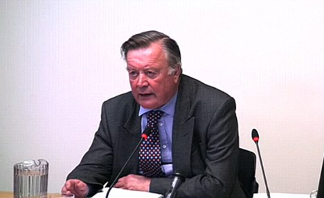 Kenneth Clarke gives evidence to the Leveson Inquiry