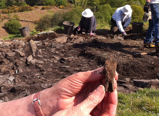 A spearhead from the burnt-out fort on Trusty's Hill, which archaeologists now think may have been the centre of a lost Dark Ages kingdom