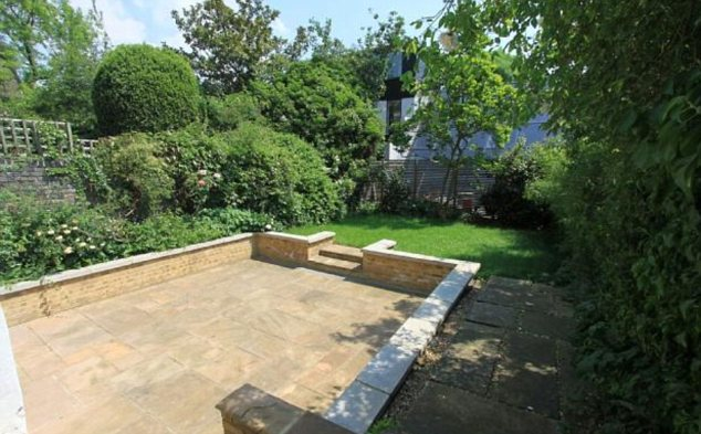 Private sanctuary: There are private gardens to the front and rear of the property