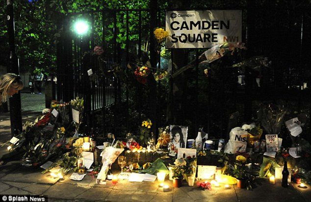 Remembering Amy: Shortly after her death fans flooded to Camden square to leave tributes and flowers
