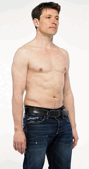 Ben Shephard before he undertook the diet