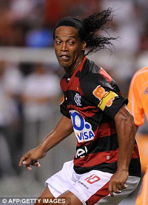 Home boy: Ronaldinho has walked out on Flamengo over unpaid wages
