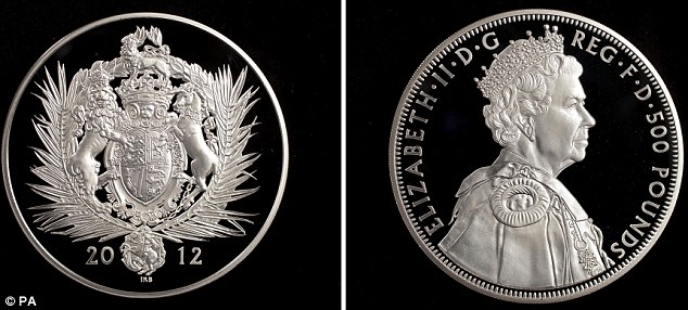 Collectable: The UK's first ever silver Kilo Coin with a face value of £500 costs £2,600 to buy