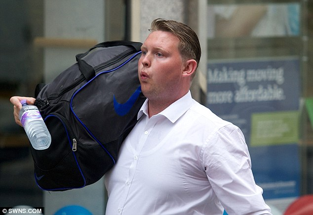 'Dishonest': Michael Coffey, pictured carrying a large holdall, was given a suspended prison sentence