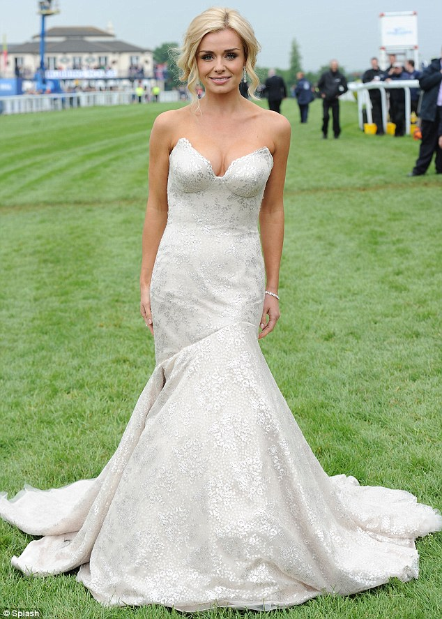 A huge honour: Katherine Jenkins poses at Epsom Racecourse before singing the National Anthem in front of the Queen