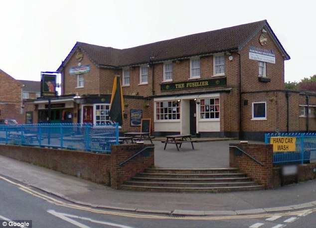 The Fusilier Pub in Wembley, North London, where Luka Manotta has previously stayed