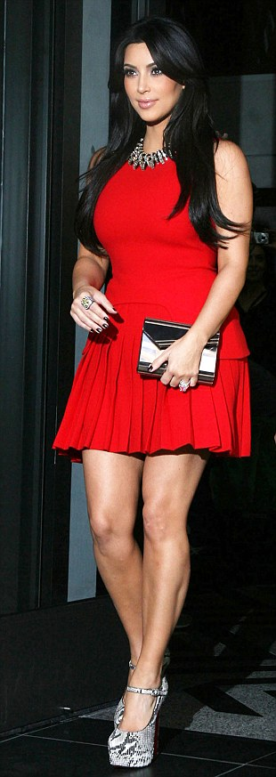 Back in August last year Kim Kardashian wore the Alexander McQueen dress for a night out in New York