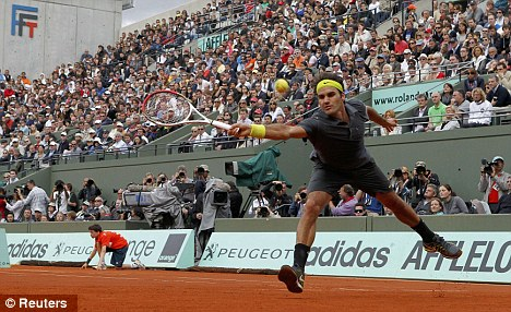 Hard work: Federer did not have it all his own way
