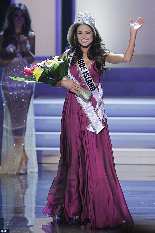 Winner: Olivia Culpo, 20, from Rhode Island won the title of Miss USA on Sunday night during the live broadcast