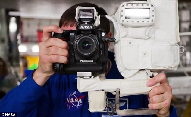 Nikon's advertising is out of this world: The rig in space which will capture the tranit