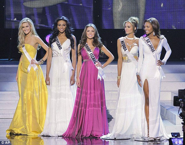 Top five: (From left) Miss Ohio, Miss Maryland, Miss Rhode Island, Miss Nevada and Miss Georgia