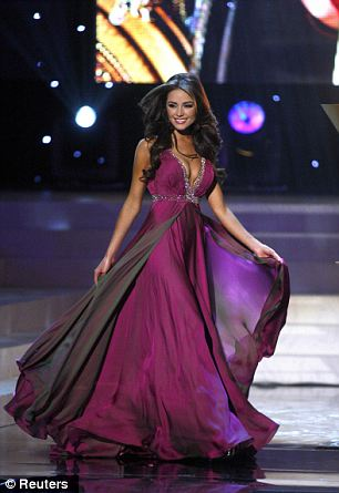 Showing off the outfits: Miss Culpo won two stunning gowns during the ceremony