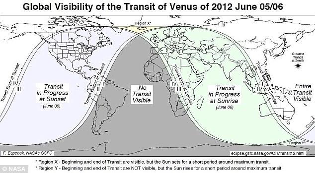 The transit of Venus, provided by  NASA