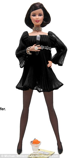 Uncanny: A Megan Draper Barbie has also been dressed in a similar LBD to the one Jessica Pare wore on the show