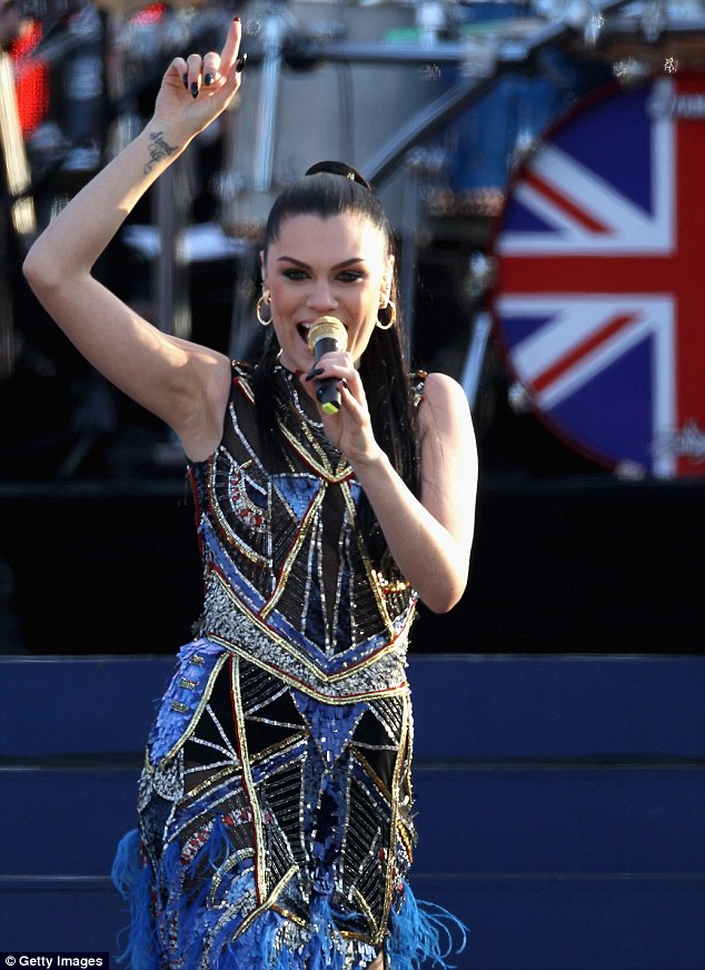 The Voice: Jessie gave a strong vocal performance but lost out in the fashion stakes to Kylie's trendy pearl outfit