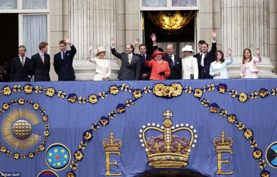 Queen Elizabeth II spent the last day of her Golden Jubilee Weekend attending a service at St Paul's Cathedral and a pageant outside Buckingham Palace