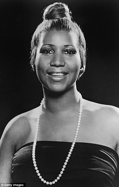 Old hand: Aretha, pictyred here in 1977, has been recording music since 1960
