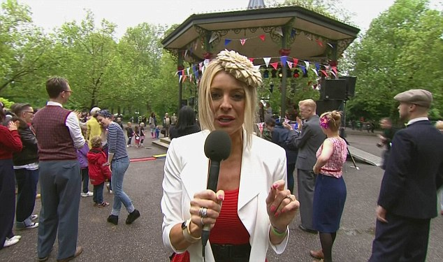 Clueless: Tess Daly was in action in the Park for the BBC's coverage