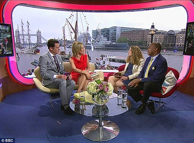 More One Show than history in the making: The scene in the BBC studio, with presenters Matt Baker and Sophie Raworth, who were described as 'unprepared, ill-informed and patronising'