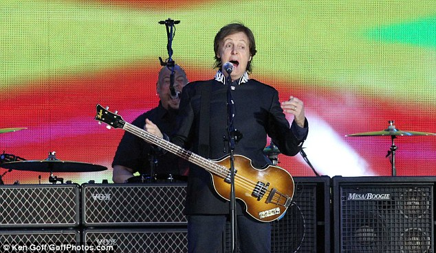 Paying tribute: Sir Paul told the Queen: 'May I congratulate Your Majesty on 60 fantastic years'