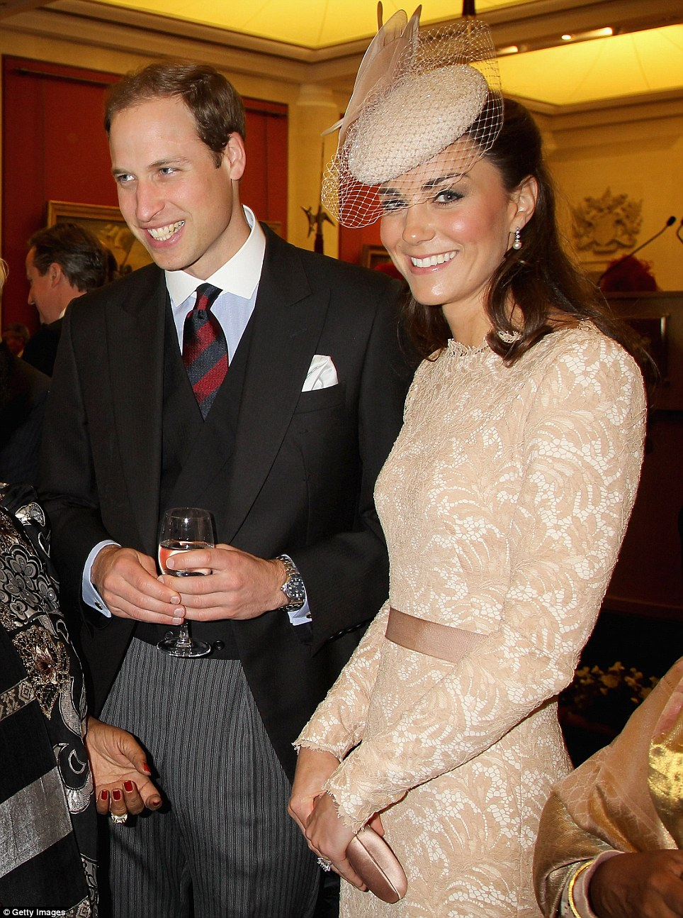 The Duke and Duchess attended a Jubilee reception at the Guildhall following the morning service