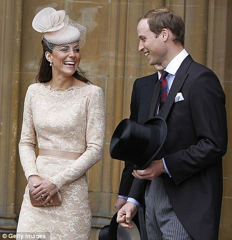 Enjoying the day: It was a day of ceremony and respect, but for Kate and William it was also a time to celebrate the Queen's incredible reign