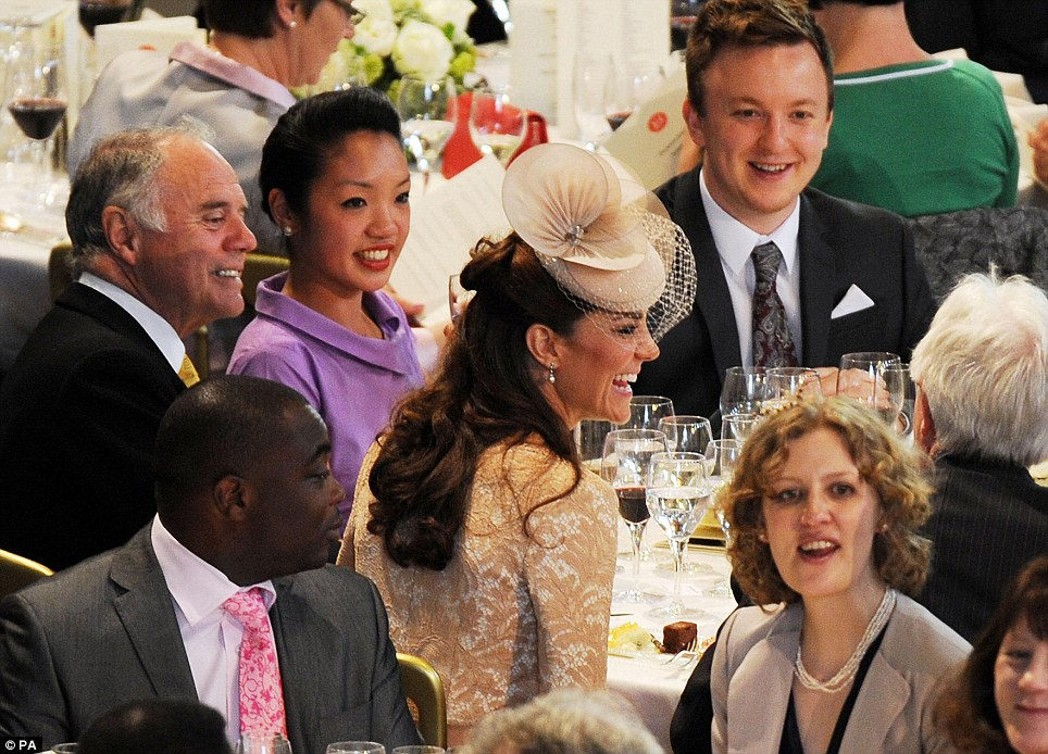 Shining: Kate proved to be glittering company at the lunch, holding fellow guests rapt