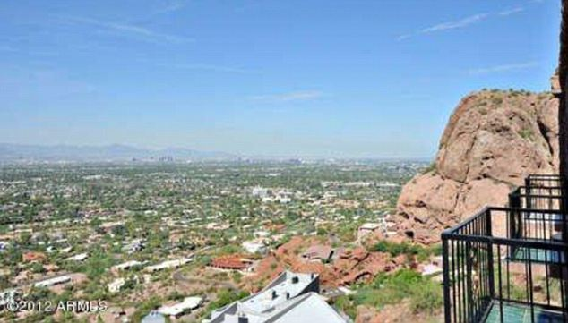 The 7,900 square foot home has stunning views from the Arizona mountainside