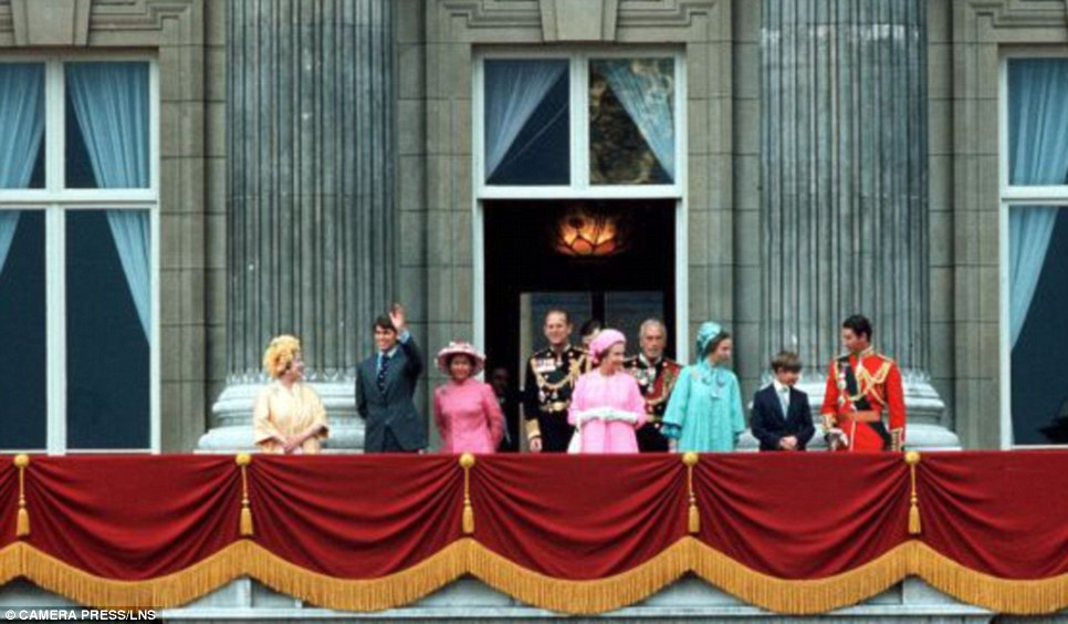 The Silver Jubilee (l to r): The Queen Mother; Prince Andrew; Princess Margaret; Prince Philip; the Queen; Lord Louis Earl of Mountbatten; Princess Anne; Prince Edward; and Prince Charles