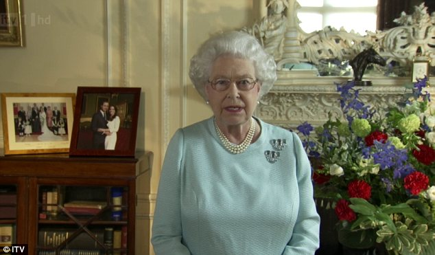 Thankful: In a rare address to the country and Commonwealth this evening, the Queen declared herself deeply humbled by the celebrations