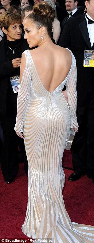 It's behind you: Jennifer Lopez is famed for her bottom