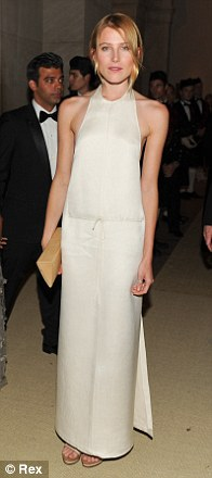 In Calvin Klein at the Met Ball - simple and beautiful. 'The clean lines and structure of this dress are amazing,' says Dree