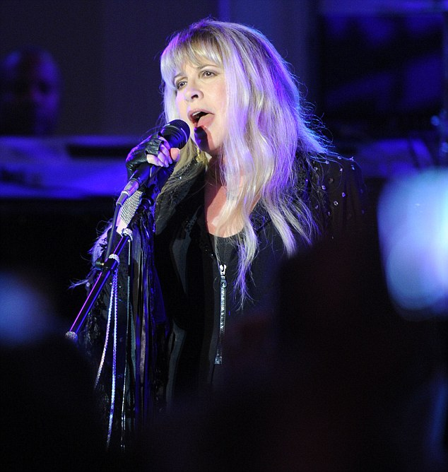 Devastated: Longtime Fleetwood Mac singer Stevie Nicks today told The Associated Press that Welch's death hit her hard