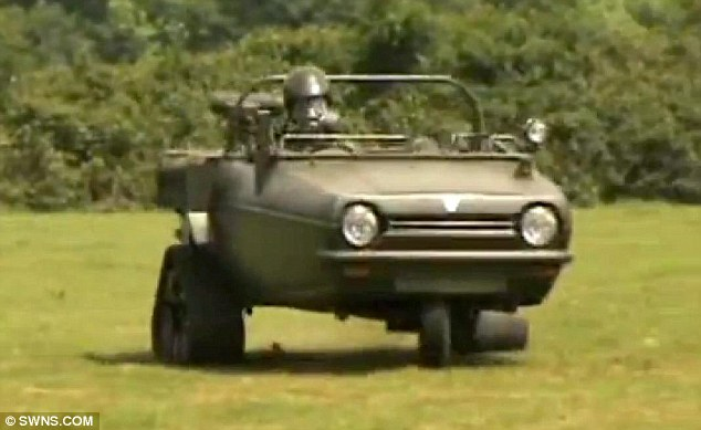 Off-roader: The vehicle was built in a garage as Bernard Reeves declared war with Jeremy Clarkson