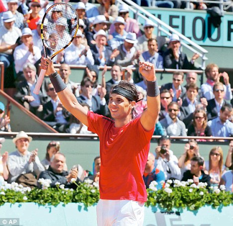 Look of a champion: Nadal aims for a record seventh French Open title after easily dispatching Ferrer, the conqueror of Murray, in three sets