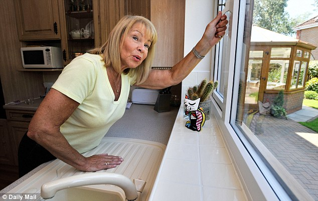 Not happy: Cathy Bell, pictured, said the birds are ¿over-running' the quiet residential estate