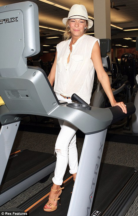 Exercise paid off! LeAnn was seen at an LA Fitness First Signature Club launch last week