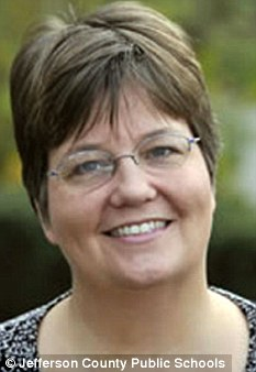 On leave: Teacher Kathleen Pyles, pictured, is being investigated after allegedly calling a student 'black boy'