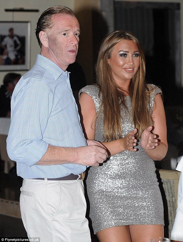 New friends: James Hewitt invited Lauren Goodger to an exclusive dinner at his club The Polo House, in Marbella, Spain, last night