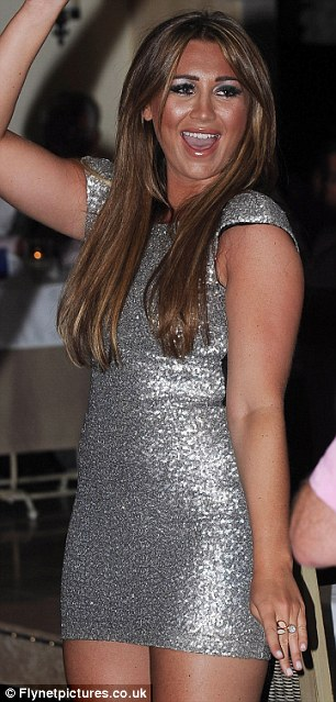 Silver siren: Goodger had clearly slimmed down and showed off her curves in a short sequin dress